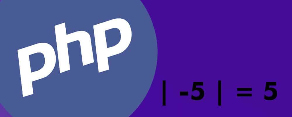 PHP: Calculando o módulo de um número com a função abs()