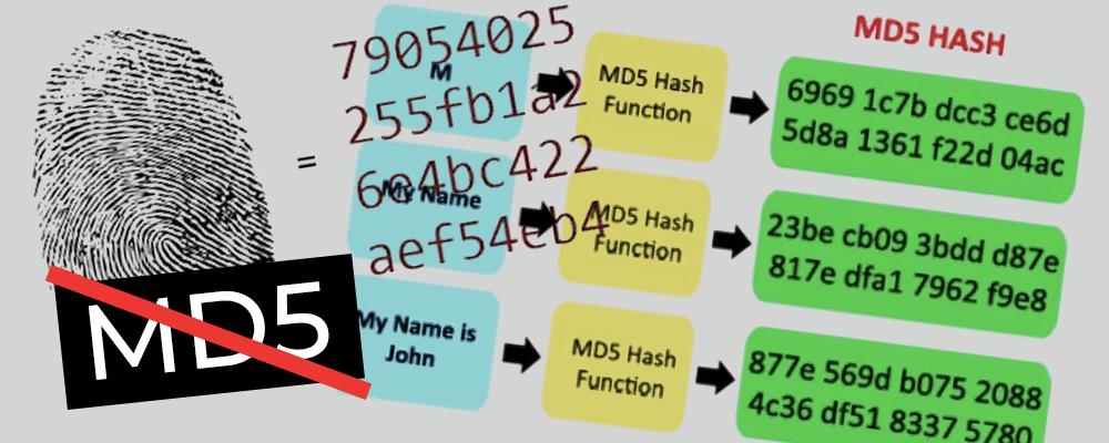 Pare de criptografar senhas com md5