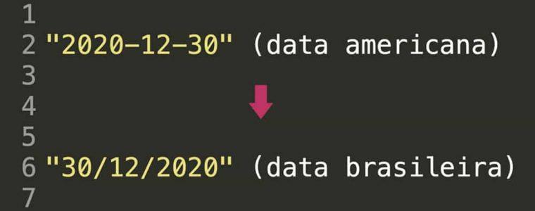 Converter data americana para data brasileira usando Javascript