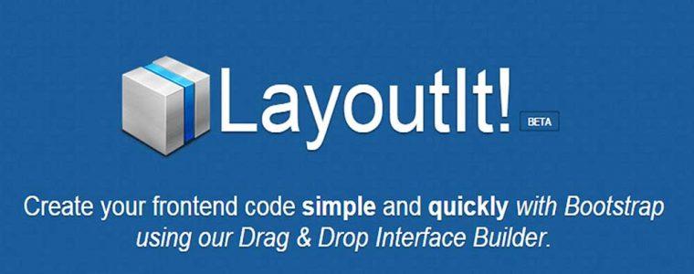 Interfaces gráficas Bootstrap usando o LayoutIt