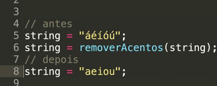 Como remover acentos de uma string usando javascript